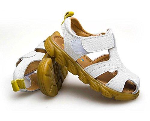 Scothen Playa de verano cerrado sandalias zapatos para caminar al aire libre ultraligero calzado transpirable plana unisex niños muchachas ocio zapatos de trekking para caminar/sandalias de la mitad White