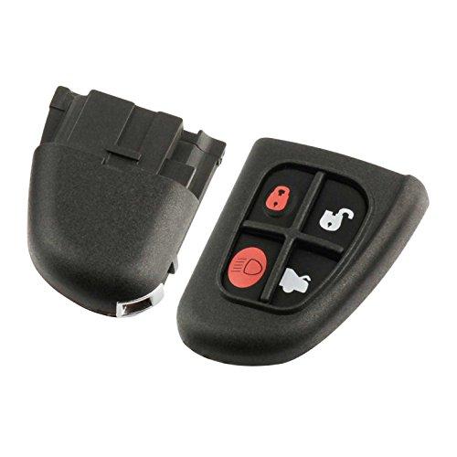 Key Fob Keyless Entry Remote Flip Shell Case & Pad fits Jaguar 2001-2008 S-Type/2002-2008 X-Type/2001-2008 XJ8