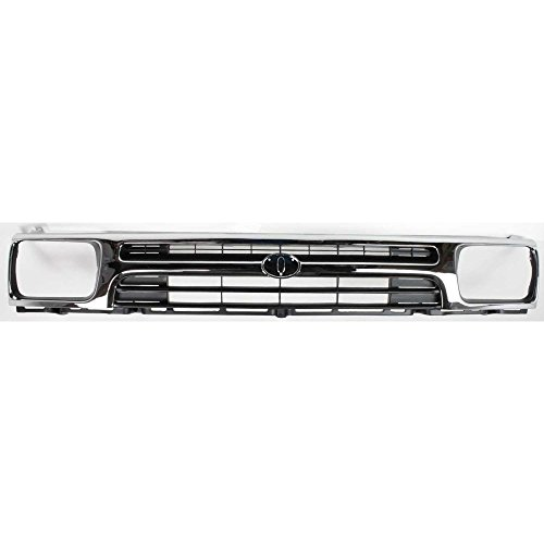 ckup 92-95 Plastic Chrome Shell/Painted-Black Insert 1-Piece Type 2WD ()