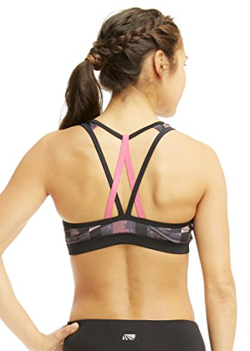 Marika Mujer BHS Lilly Printed Sports Bra, octagone Watercolor Bancal Root Varios colores - Octagone Watercolor Beetroot