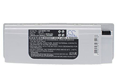 Cameron Sino 3840mAh Li-ion High-Capacity Replacement Batteries for Nokia Booklet 3G/ Booklet 3G Blue/ Booklet 3G White/ Booklet 3G Black , fits Nokia BC-1S by Cameron Sino