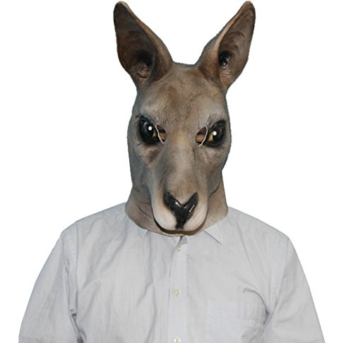 Emotion Masks (QTMY Latex Rubber Animal Kangaroo Mask for Halloween Party Costume)
