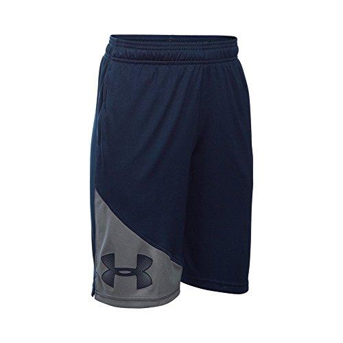 Navy Under Armour (Under Armour Boys' Tech Shorts, Midnight Navy/Graphite, Youth Medium)
