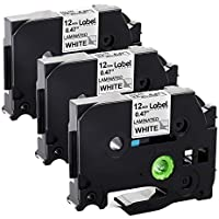 3-Pack Label KINGDOM Compatible Label Tape Replacement for Brother