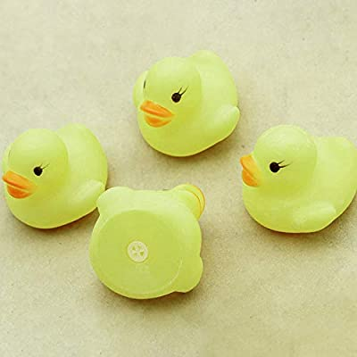 Ackful????10PC Squeezing Call Rubber Duck Yellow Ducky Duckie Baby Shower Birthday Favors: Toys & Games