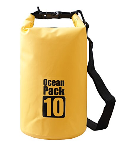 Floating Waterproof Dry Bag 10L/20L Roll Top Sack Keeps Gear Dry for Kayaking, Rafting, Boating, Swimming, Camping, Hiking, Beach, Fishing