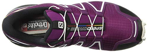 Zapatillas White Morado Deep Purple Running de Trail Mujer para Speedcross Salomon Dark 000 4 W Lake qO7fxtPCw