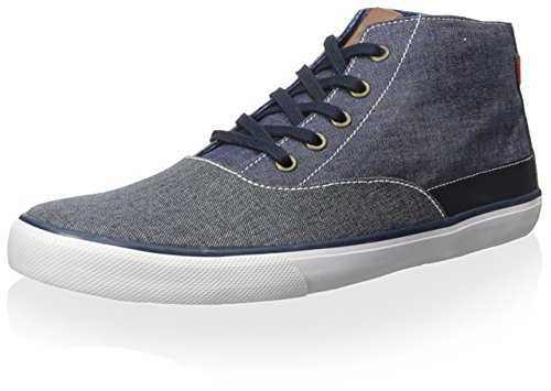 Ben Sherman Men's Percy Hi Top Sneaker, Navy Blazer, 44 M EU/11 M US