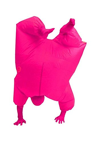 [Wecloth Halloween Costume Cosplay FullBody Inflatable Suit Penguin Costume Party Cosplay Adult (Pink)] (Man Bear Pig Costume)