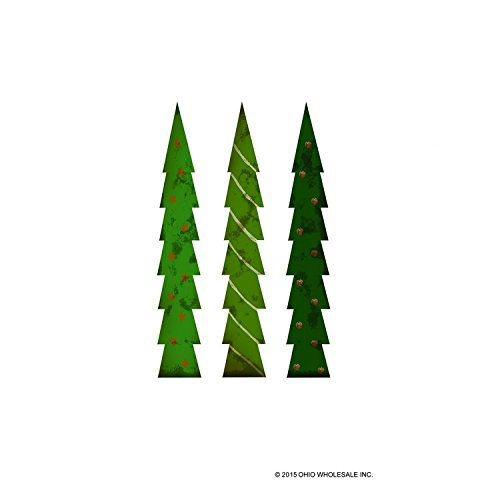 Assorted Tall Wood Christmas Trees - Set of 3
