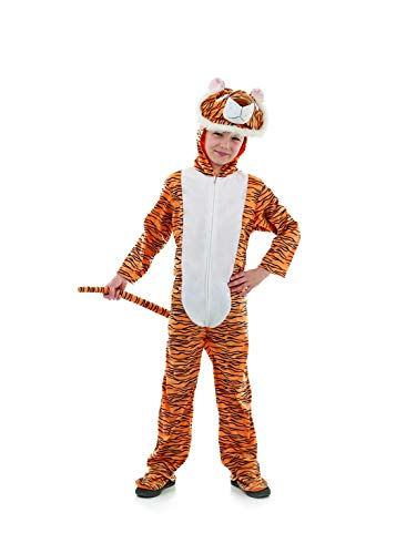 Kids Tiger Onesie Costume Childrens Animal Hooded All-in-One Outfit - Small ()