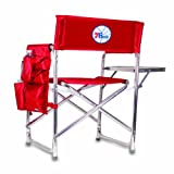 PICNIC TIME NBA Philadelphia 76ers Portable Folding Sports Chair, Red