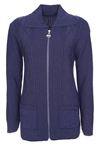Lets Shop Shop - Cárdigan - para mujer azul marino