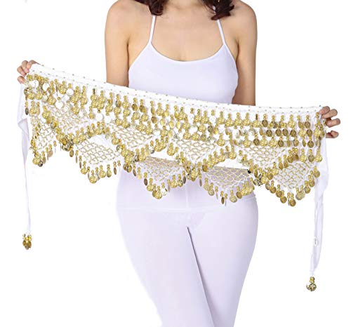 Hip Scarf Gypsy Scarf White Belly Dance Skirt Bellydance Scarves Accessaries]()