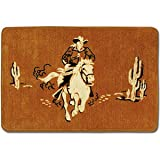 COWBOY WESTERN bathroom bath mat RUG home decor NEW