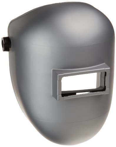 Sellstrom 28511 Nylon Super Kool Silver Coated Welding Helmet and Ratchet Headgear with 4-1/4'' Width x 2'' Height Sel-Snap Fixed Front, Made in USA