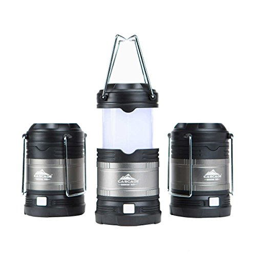 Cascade Mountain Tech Collapsible LED Lantern, Perfect Lighting for Camping, BBQ's and Emergency Light - 3 Pack Batteries Included ... (Best Tech Under 25 Dollars)