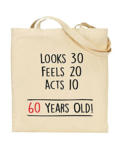 Sixty TeeDemon Sexy Gift 60th Bag Shopping Years Old 60 Novelty TOTE Birthday by Handbag pEn1A