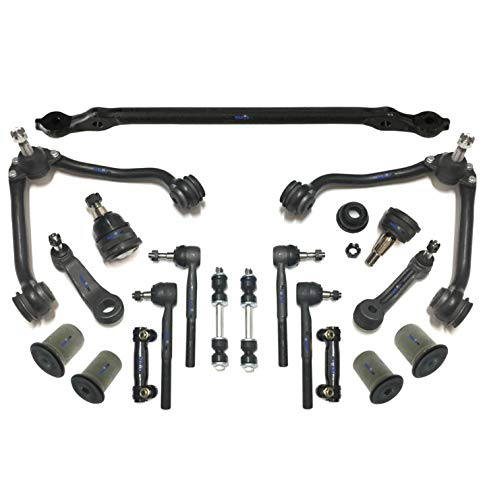 Gmc C2500 Suburban Pitman Arm - PartsW 17 Pc Suspension Kit for Chevrolet & GMC / C1500 Suburban, C2500, C3500, Tahoe, Yukon, Upper Control Arms & Ball Joints, Inner & Outer Tie Rod & Sway Bars, Center Link with Idler & Pitman Arms