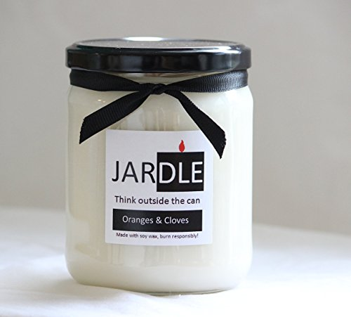 Soy Candle 16 oz Oranges & Cloves Dye Free Lead Free With Cotton Wick (Spice Oil Aromatic Tropical)