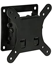 Mount-It! Tilt TV Wall Mount Bracket 1.7 Inch Low-Profile Design with Quick Release Function, VESA 75 and VESA 100 Compliant, Steel Fits up 32 Inch TVs 30 Lbs Carrying Capacity, Black