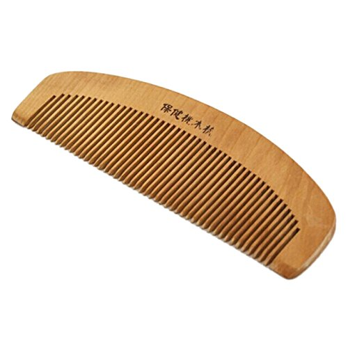 SODIAL(R) 6.1'' Long Chinese Traditional Handmade Hair Styling Toothed Wooden Comb