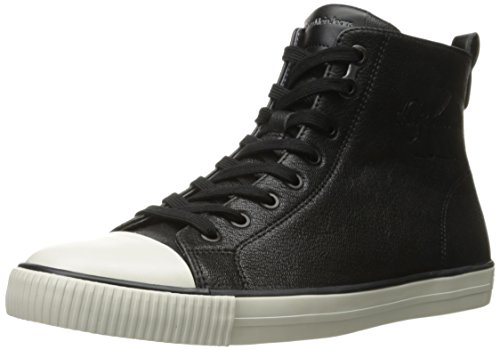 CK Jeans Men's Aron Oily Tumbled Fashion Sneaker, Black, 7 M US by Calvin Klein