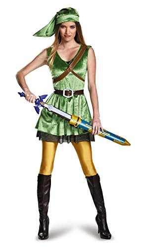Disguise Women's Legend of Zelda Link Adult Costume, Green, Large