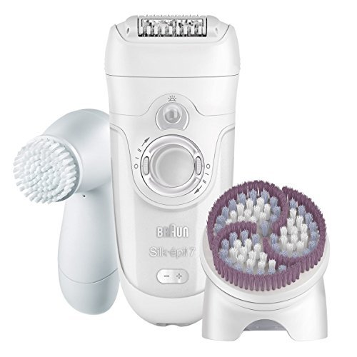 -929 Women's Epilator, Electric Hair Removal, Wet & Dry, with Facial Cleansing Brush ()