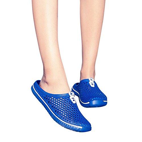 NRUTUP Men Shoes Unisex Hollow out Casual Couple Beach Sandal Flip Flops Shoes(Blue,43) from NRUTUP