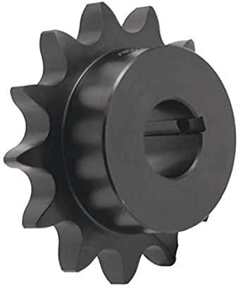 KOVPT # 40 Chain Roller Sprocket 40 Teeth Bore 0.625 Inch Type B Pitch 0.5 Inch Carbon Steel Black 1Pcs