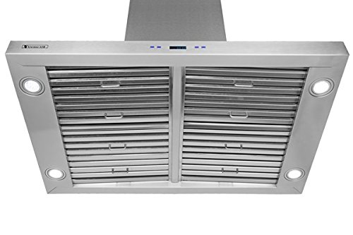 XtremeAir PX05-I42 900 CFM LED lights, Both Side accessible Control, Baffle Filters with Grease Drain Tunnel, 1.0mm Non-Magnetic Stainless Steel Seamless Body, Island Mount Range Hood, 42'' by XtremeAIR (Image #3)