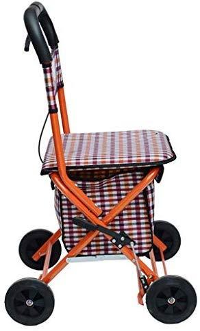 WSJ Andador de Andador Ancianos - Carro de Compras Plegable ...