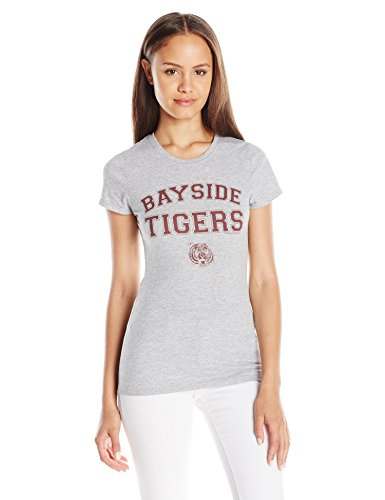 American Classics Juniors Bayside Tigers Graphic Tee, Grey, Medium