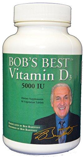 - Bob Barefoots Best Vitamin D3 5000 IU - 90 Vegetarian tablets