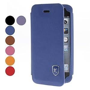 Procesamiento de dos días -Imán diseño de la caja de cuero de la PU con la ranura para tarjeta para el iphone 5/5s (colores surtidos),Red