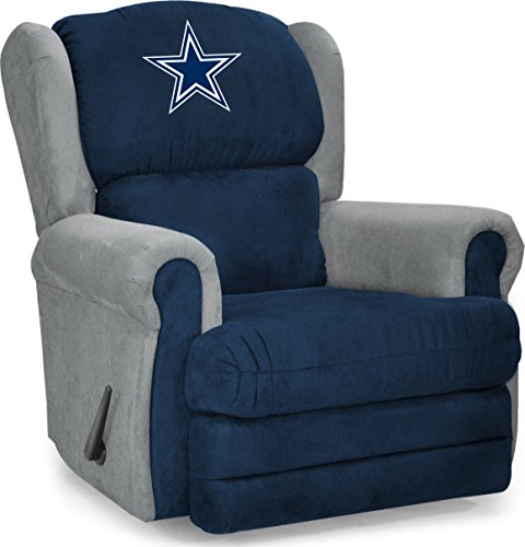 Imperial Officially Licensed NFL Furniture: Coach Microfiber Recliner, Dallas  Cowboys