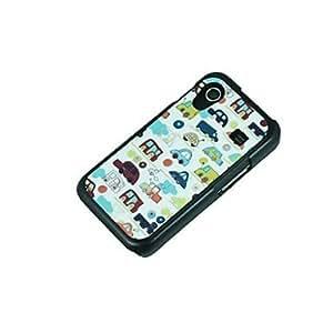 DUR Kinston Cartoon Smile Pattern Plastic Hard Case for Samsung S5 I9600