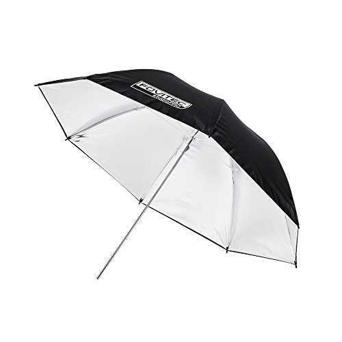 Fovitec - 1x 40 inch Silver Photography & Video Reflector Umbrella - [Reinforced Fiberglass][Lightweight][Easy Set-up][Collapsible][Durable Nylon] by Fovitec
