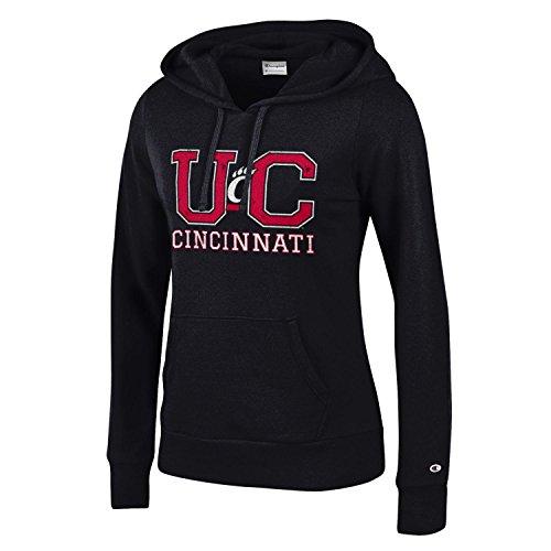 Champion NCAA Women's Comfy Fitted Sweatshirt University Fleece Hoodie Cincinnati Bearcats X-Large