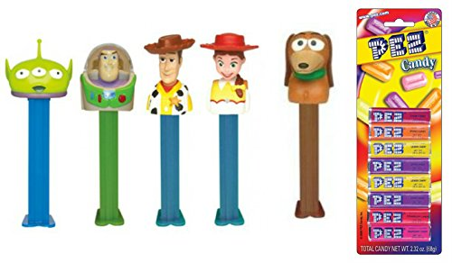 pez-toy-story-dispensers-and-candy-set-bundle-of-5-items-4-toy-story-dispensers-and-a-pack-of-8-pez-
