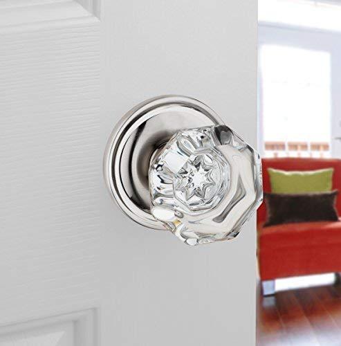 Classic Rosette, Crystal Style Door Knob