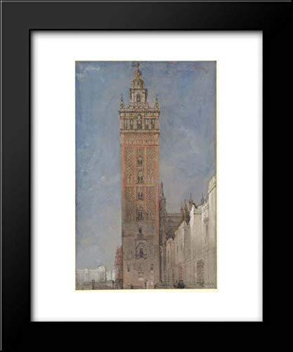 David Roberts - 15x18 Framed Museum Art Print- The Giralda, Seville