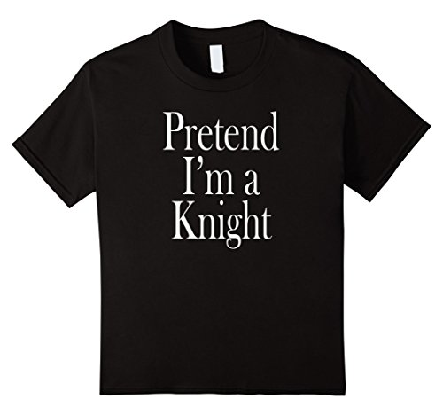 Kids Knight Costume T-Shirt for the Last Minute Party 10 (Easy Last Minute Halloween Costumes For Women)