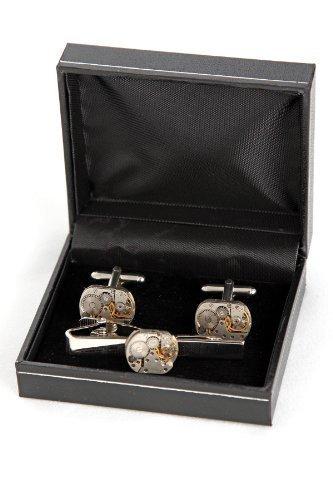 steampunk 16mm watch movement cufflinks and tie clip unique boxed steampunk 16mm watch movement cufflinks and tie clip unique boxed mens gift