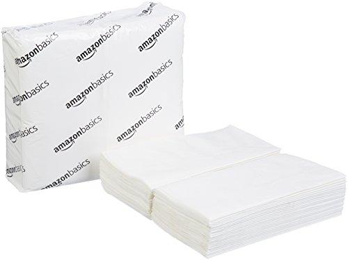 - AmazonBasics Folded Dinner Napkins, White, 100 Napkins per Pack, 30-Pack