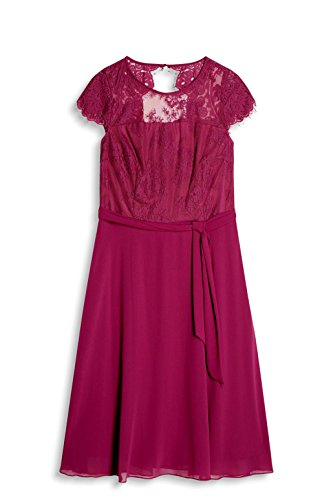 Mujer Para Red Collection Rojo Esprit Vestido berry pqtxnTv