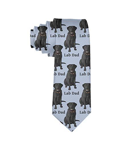Boys Casual Tie Lab Dad Black Labrador Retriever Dog Skinny For Gentleman, Men Boy Party Office College Festival Smooth Polyester Ties