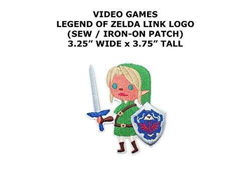 Boys Classic Link Legend Of Zelda Costumes (Legend of Zelda Link Video Game DIY Embroidered Sew or Iron-on Applique Patch Outlander Gear)