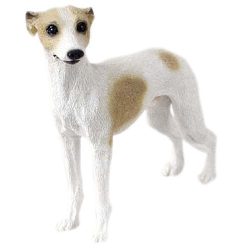 Tan & White Whippet Figurine